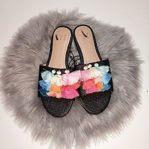 A New Day | Rainbow Tassel Slide on Shoes - 6.5